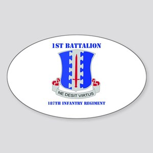 DUI - 1st Bn - 187th Infantry Regt with Text Stick