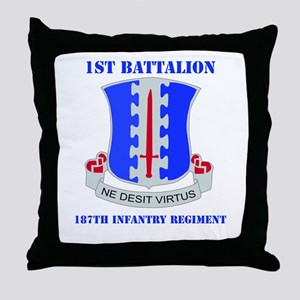 DUI - 1st Bn - 187th Infantry Regt with Text Throw
