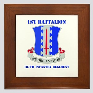 DUI - 1st Bn - 187th Infantry Regt with Text Frame