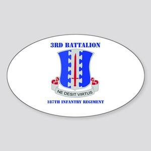 DUI - 3rd Bn - 187th Infantry Regt with Text Stick