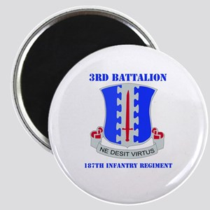 DUI - 3rd Bn - 187th Infantry Regt with Text Magne
