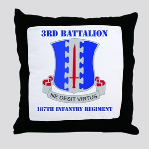 DUI - 3rd Bn - 187th Infantry Regt with Text Throw