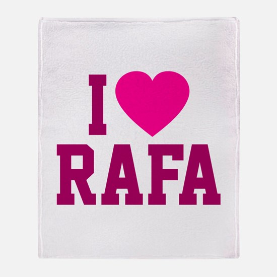 I Love Rafa Throw Blanket