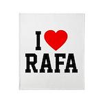 I Love Rafa Throw Blanket