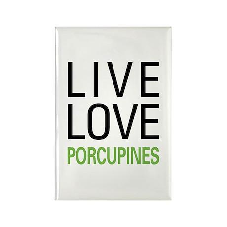 Live Love Porcupines Rectangle Magnet (10 pack)