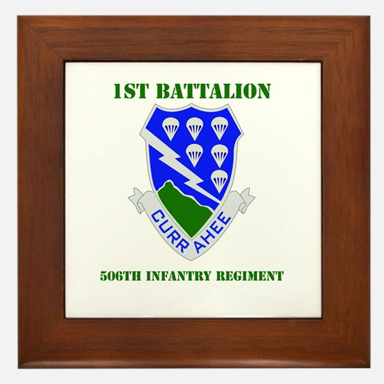 DUI - 1st Bn - 506th Infantry Regt with Text Frame
