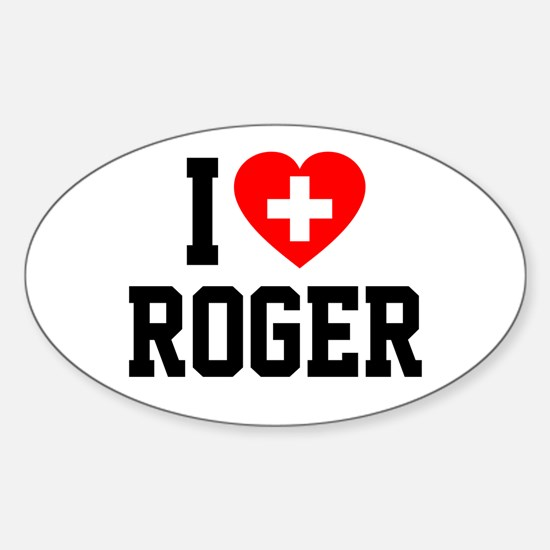 I Love Roger Sticker (Oval)