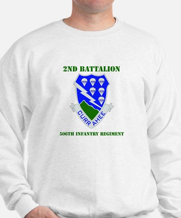 DUI - 2nd Bn - 506th Infantry Regt with Text Sweat