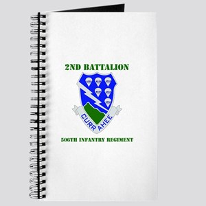 DUI - 2nd Bn - 506th Infantry Regt with Text Journ