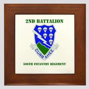 DUI - 2nd Bn - 506th Infantry Regt with Text Frame