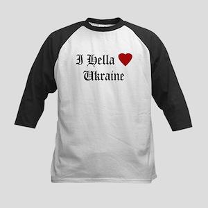 Hella Love Ukraine Kids Baseball Jersey