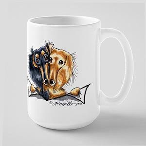 Longhair Dachshund Lover Large Mug