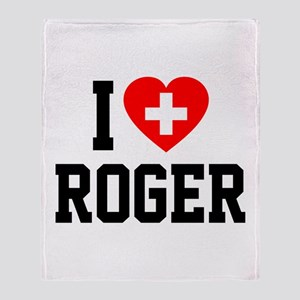I Love Roger Throw Blanket