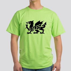WALES DRAGON Green T-Shirt