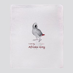 i love african greys Throw Blanket