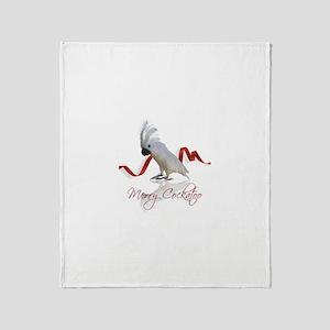 merry cockatoo Throw Blanket