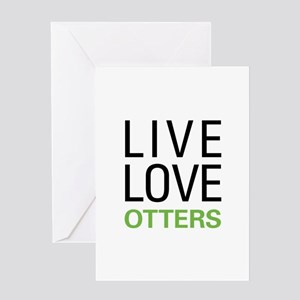 Live Love Otters Greeting Card