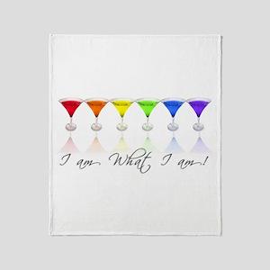 rainbow martinis Throw Blanket