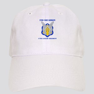 DUI - 2nd Sqdrn - 17th Cavalry Regt with Text Cap
