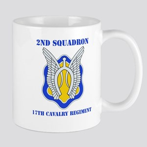 DUI - 2nd Sqdrn - 17th Cavalry Regt with Text Mug