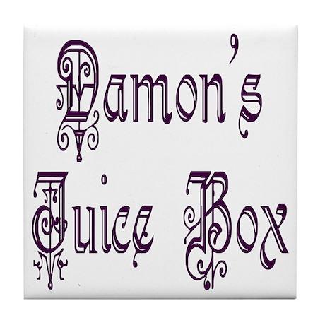 Damon's Juice Box Tile Coaster
