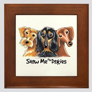 Show Me Doxies Framed Tile