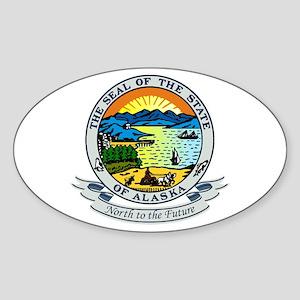 Alaska State Seal Sticker (Oval)