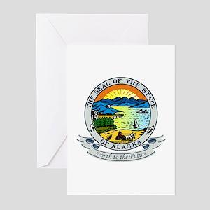 Alaska State Seal Greeting Cards (Pk of 10)