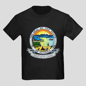 Alaska State Seal Kids Dark T-Shirt