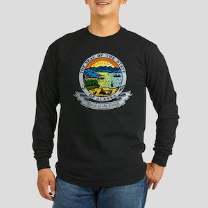Alaska State Seal Long Sleeve Dark T-Shirt