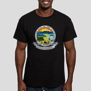 Alaska State Seal Men's Fitted T-Shirt (dark)