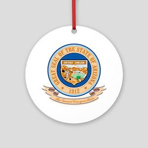 Arizona Seal Ornament (Round)