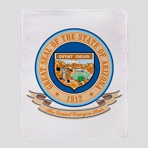 Arizona Seal Throw Blanket