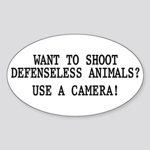 Want to shoot Sticker (Oval)