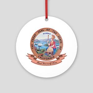 California Seal Ornament (Round)