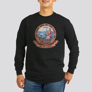 California Seal Long Sleeve Dark T-Shirt