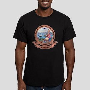 California Seal Men's Fitted T-Shirt (dark)