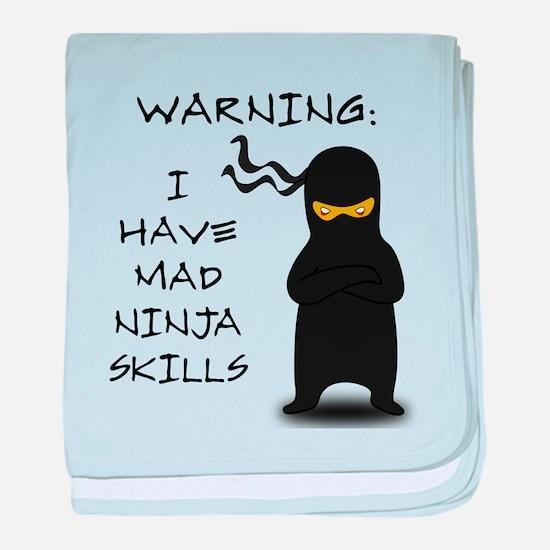 Mad Ninja Skills baby blanket