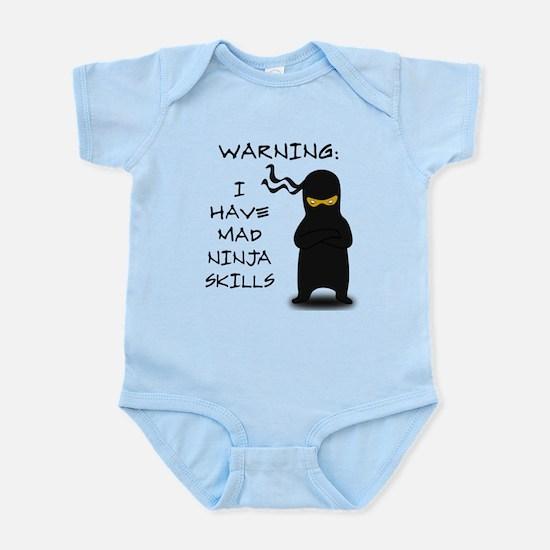 Mad Ninja Skills Infant Bodysuit