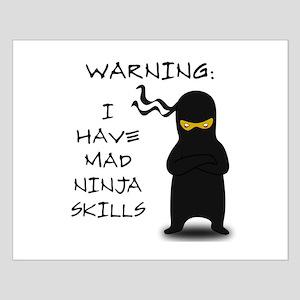 Mad Ninja Skills Small Poster