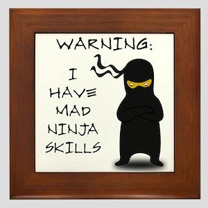Mad Ninja Skills Framed Tile
