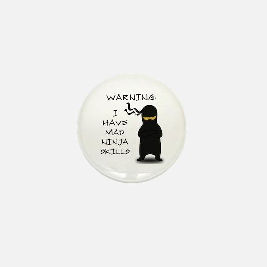 Mad Ninja Skills Mini Button