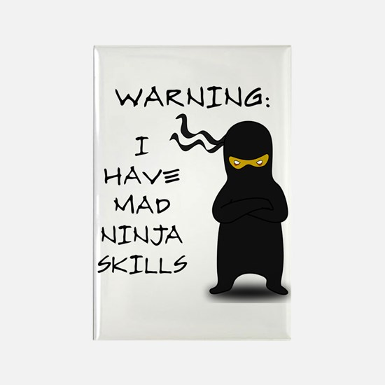 Mad Ninja Skills Rectangle Magnet (10 pack)