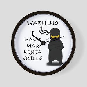 Mad Ninja Skills Wall Clock