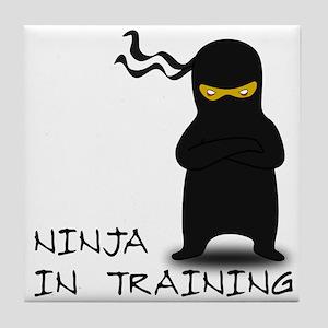 Ninja in Training Tile Coaster