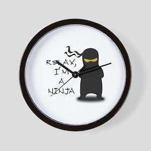 Relax, I'm a Ninja Wall Clock