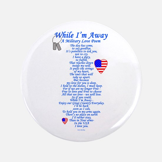 """Military Love Poem 3.5"""" Button"""