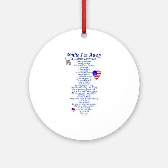 Military Love Poem Ornament (Round)