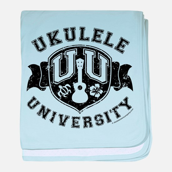 Ukulele University baby blanket