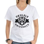 Ukulele University Women's V-Neck T-Shirt